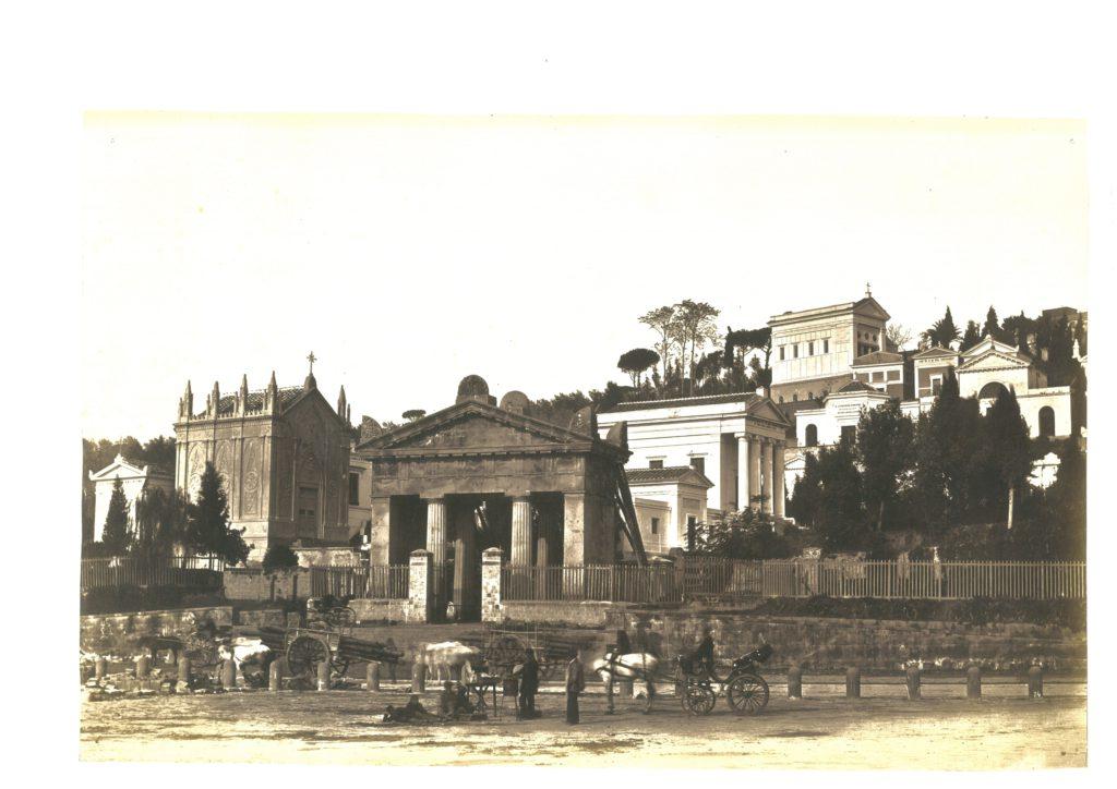 Autore non identificato, il Cimitero di Poggioreale, Napoli, 1855 ca. [Accademia delle Arti del Disegno, Archivio Castellazzi]